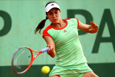 PARIS, FRANCE - MAY 31:  Christina McHale of USA plays a forehand in her women's singles second round match against Lauren Davis of USA during day 5 of the French Open at Roland Garros on May 31, 2012 in Paris, France.  (Photo by Clive Brunskill/Getty Images)